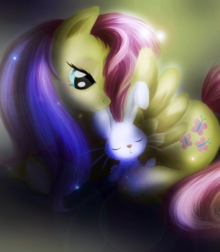 Little Pony And Rabbit Wallpaper for Nokia C1-01