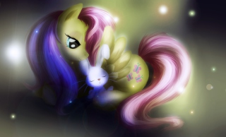 Little Pony And Rabbit - Fondos de pantalla gratis