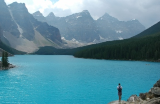 Free Glacial Lake Picture for Android, iPhone and iPad