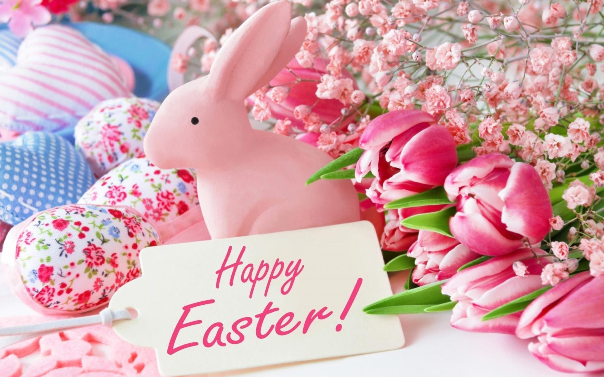 Pink Easter Decoration Wallpaper for Widescreen Desktop PC ...