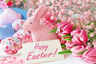 Pink Easter Decoration Background for Android, iPhone and iPad