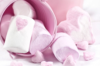 Free Pink Strawberry Marshmallows Picture for Android, iPhone and iPad