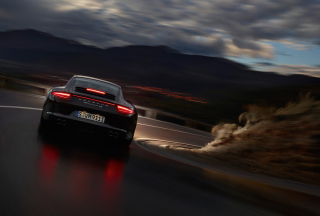 Kostenloses Porsche Carrera 4 Night Drive Wallpaper für Android, iPhone und iPad