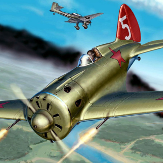 Kostenloses Ilyushin Il 2 Attack aircraft in Amateur flight simulation Wallpaper für 1024x1024