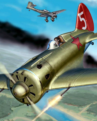 Ilyushin Il 2 Attack aircraft in Amateur flight simulation Background for Nokia Asha 311