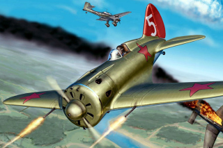 Ilyushin Il 2 Attack aircraft in Amateur flight simulation Background for HTC EVO 4G
