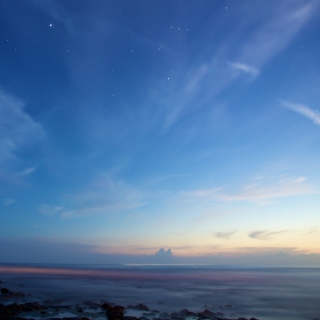 Sky And Ocean Become One Wallpaper for iPad 3