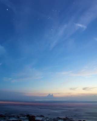 Sky And Ocean Become One Wallpaper for Nokia Asha 306