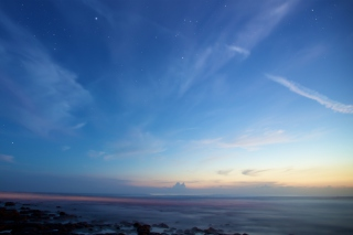 Sky And Ocean Become One Wallpaper for Nokia Asha 302
