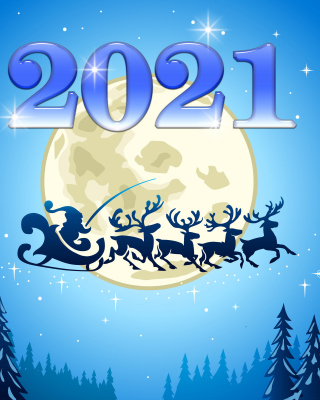 2021 New Year Night Background for 360x640