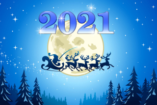 2021 New Year Night Background for Android, iPhone and iPad