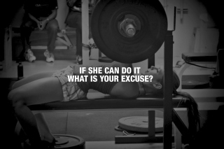 If She Can Do It What Is Your Excuse? - Obrázkek zdarma pro Samsung Galaxy S5