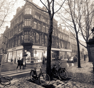 Mariaplaats - Misty Utrecht In Winter sfondi gratuiti per iPad mini