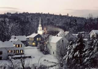 Christmas in New England Wallpaper for Android, iPhone and iPad