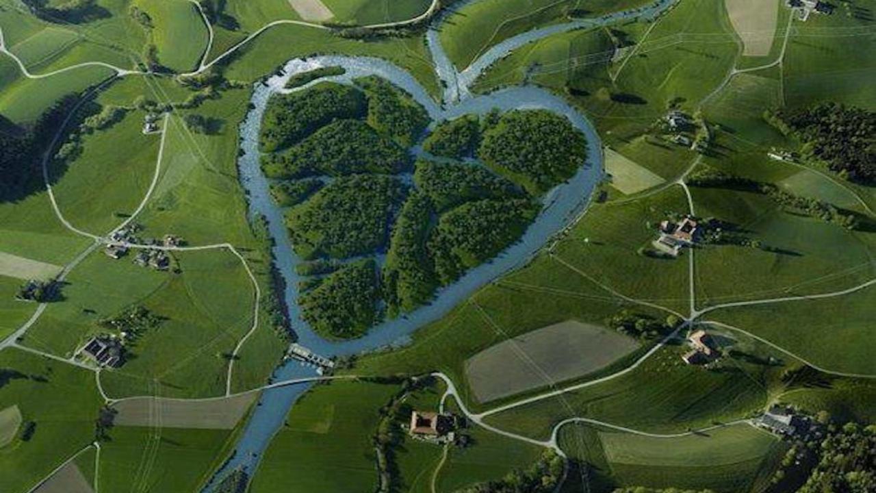 Heartshaped River North Dakota