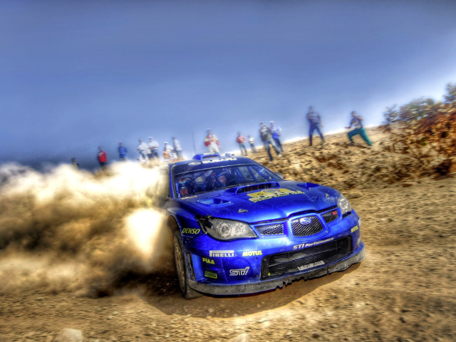 Screenshot №1 pro téma Rally Car Subaru Impreza 640x480