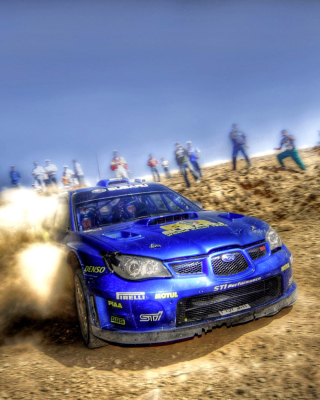 Kostenloses Rally Car Subaru Impreza Wallpaper für Nokia C-5 5MP