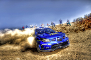 Rally Car Subaru Impreza Background for Android, iPhone and iPad