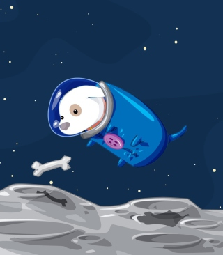 Space Dog Background for HTC Titan
