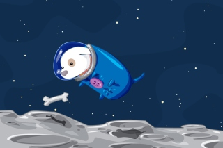 Space Dog Wallpaper for Android, iPhone and iPad