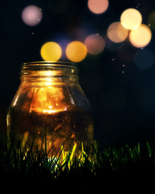 Glass jar in night Wallpaper for Nokia C1-01