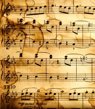 Music Notes Wallpaper for Nokia C6