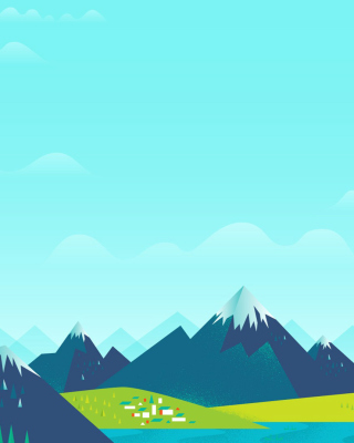 Drawn Mountains Wallpaper for Nokia Asha 310