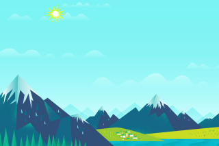 Drawn Mountains Picture for Android, iPhone and iPad