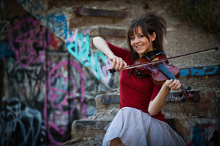 Lindsey Stirling Violin Background for Samsung P1000 Galaxy Tab