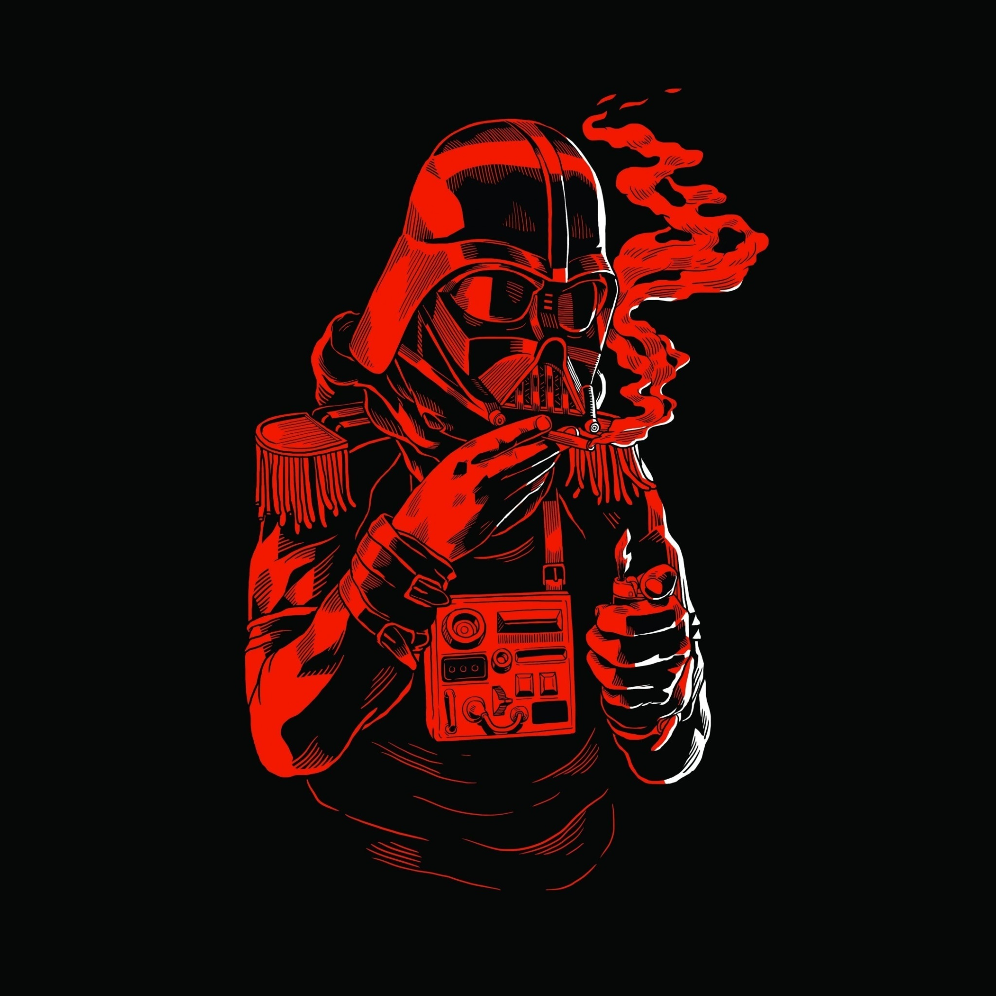 Das Star Wars Smoking Wallpaper 2048x2048