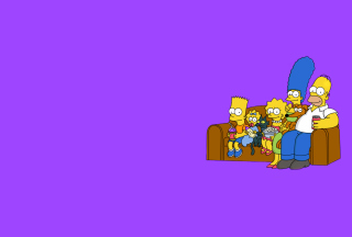 The Simpsons Family sfondi gratuiti per LG P500 Optimus One