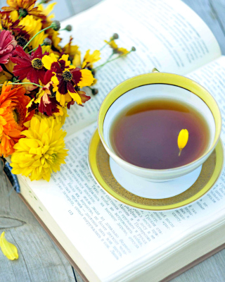 Tea and Book Picture for Nokia Asha 306