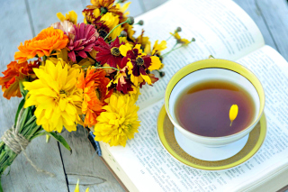 Tea and Book - Fondos de pantalla gratis