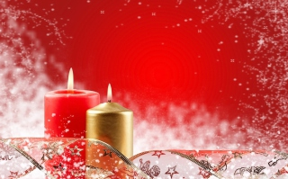Kostenloses Two Christmas Candles Wallpaper für Android, iPhone und iPad