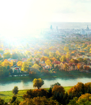 Dresden In Sun Lights Wallpaper for HTC Titan