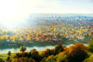 Dresden In Sun Lights Wallpaper for Android, iPhone and iPad