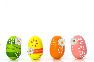 Colorful Easter Eggs papel de parede para celular para HTC Wildfire