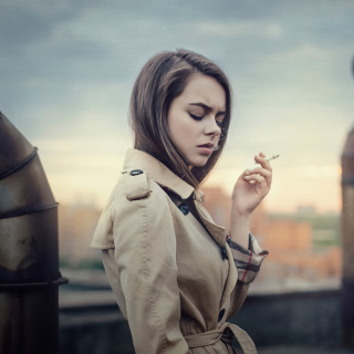 Smoking Girl Wallpaper for 1024x1024