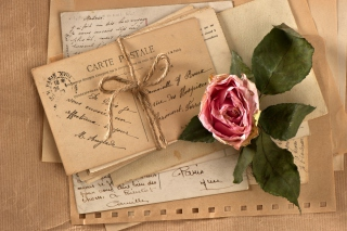 Vintage Love Letters Background for Android, iPhone and iPad