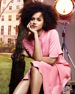 Nathalie Emmanuel HD Background for iPhone 6 Plus