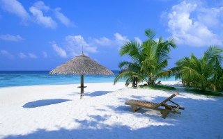 Beach Rest Place Background for Android, iPhone and iPad