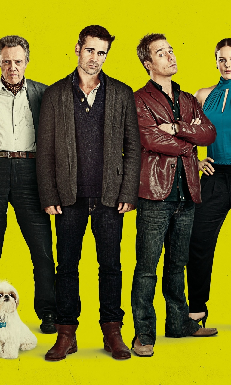 Fondo de pantalla Seven Psychopaths with Colin Farrell and Sam Rockwell 768x1280