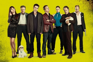 Kostenloses Seven Psychopaths with Colin Farrell and Sam Rockwell Wallpaper für 1680x1050