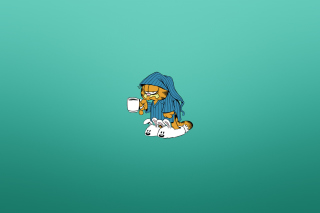 Kostenloses Garfield's Monday Morning Wallpaper für Android 320x480