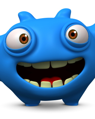 Cute Blue Cartoon Monster Background for Nokia C1-01