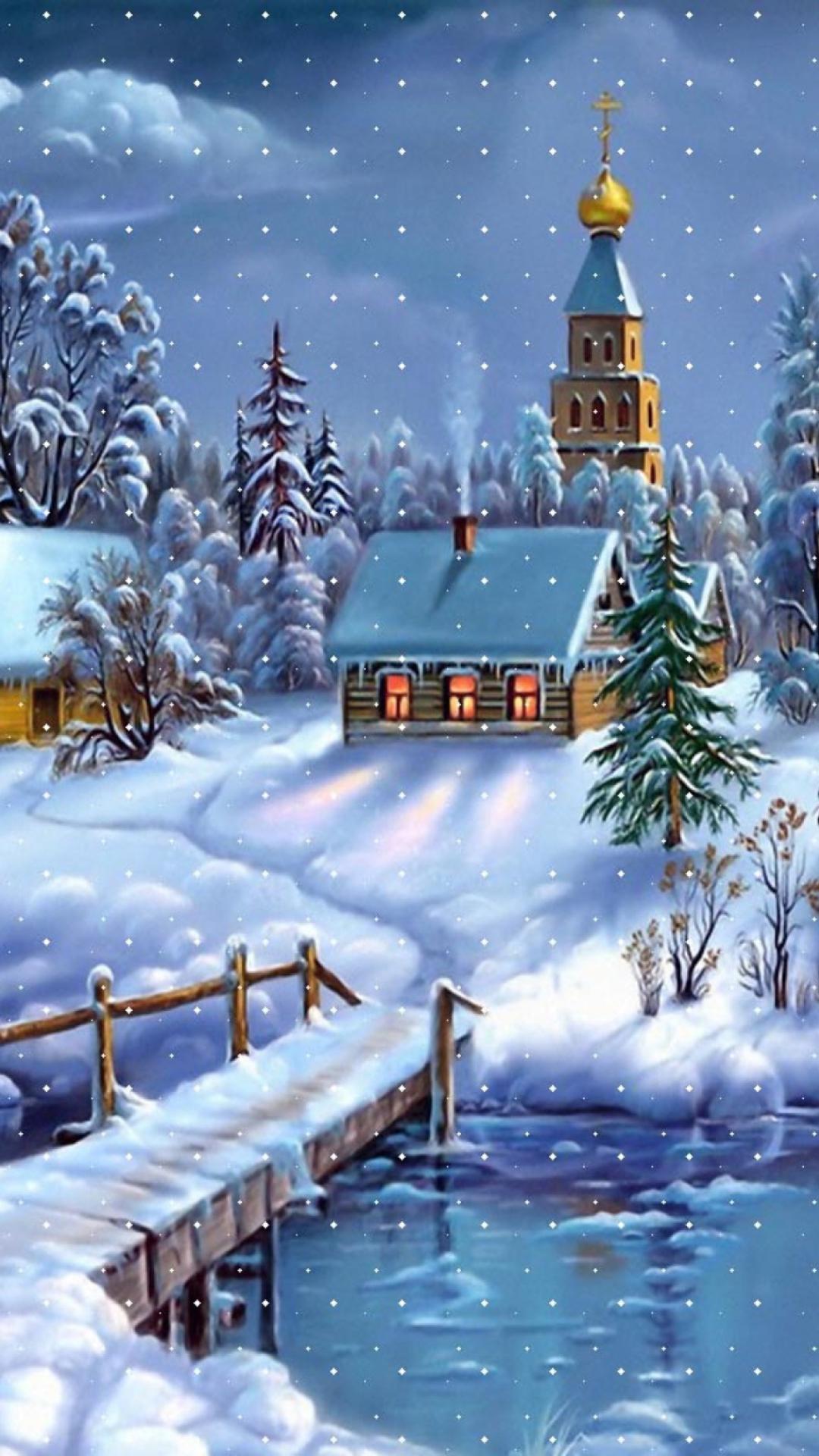 Красивые зимние сказочные картинки на телефон