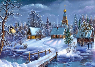 Christmas Night Background for Android, iPhone and iPad