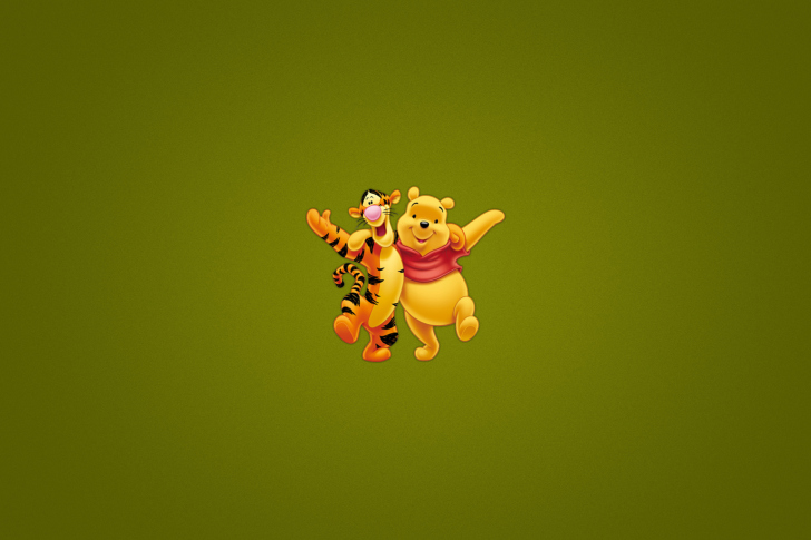 Winnie The Pooh And Tiger wallpaper