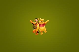 Winnie The Pooh And Tiger Picture for Android, iPhone and iPad