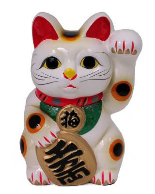 Maneki Neko Lucky Cat Background for Nokia Asha 300